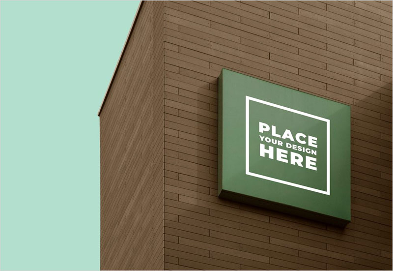Free-Square-Building-Sign-Mockup