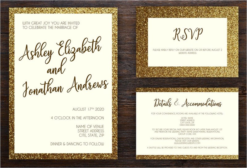Golden-Framed-Wedding-Invite-Pack