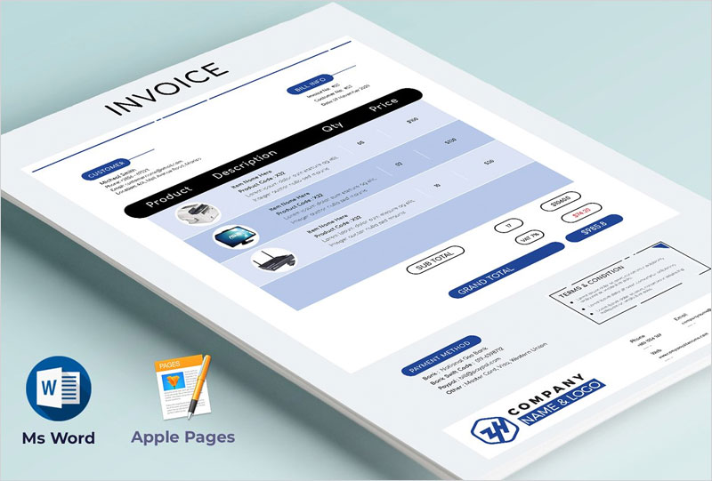 Invoice-Word-&-Apple-Pages