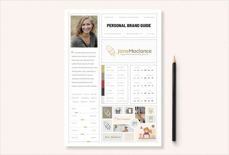 One-Page-Personal-Brand-Style-Guide