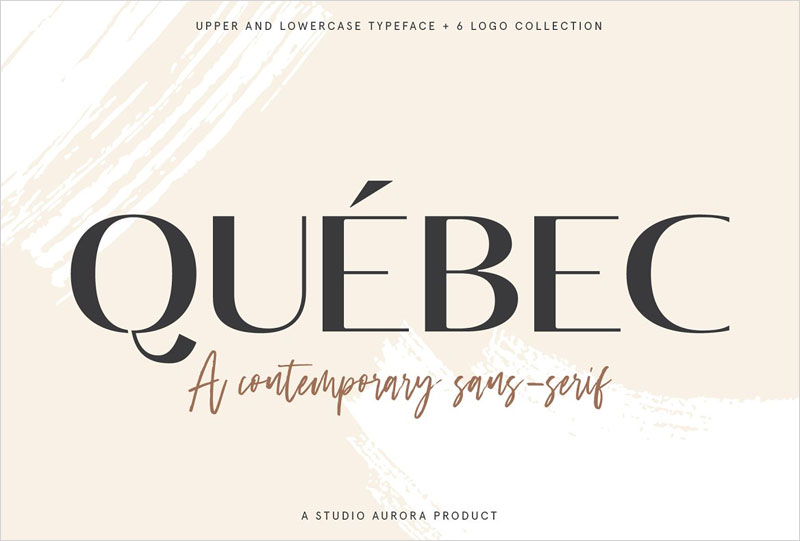 Quebec---Elegant-Font-and-Logo-Set
