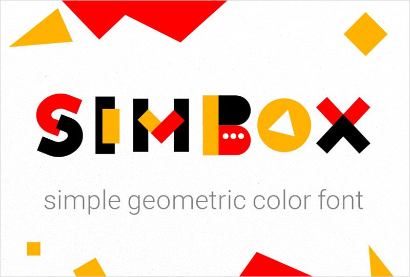 Simbox-the-color-geometric-font