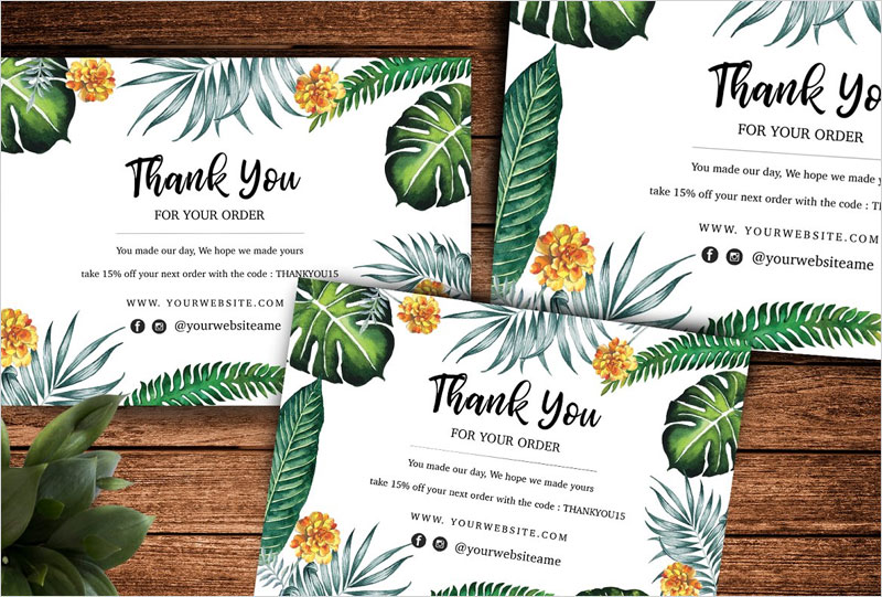 Tropical-thank-you-card