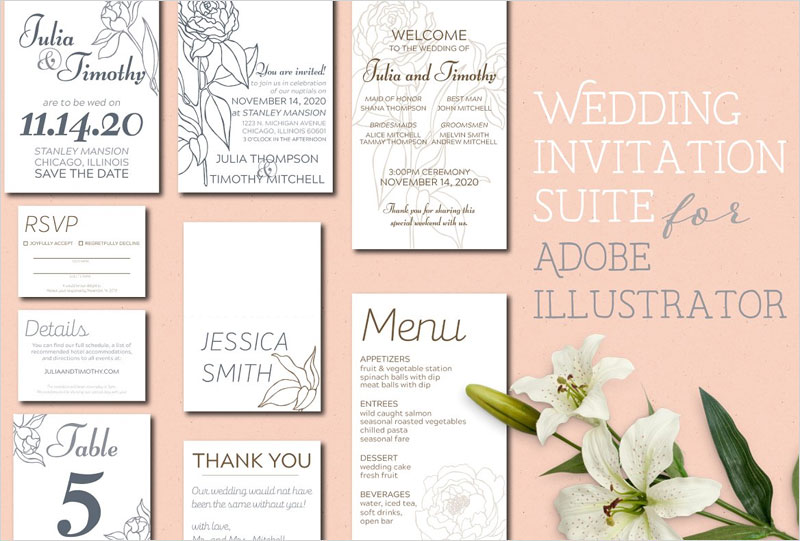 Wedding-Invitation-Suite-Templates