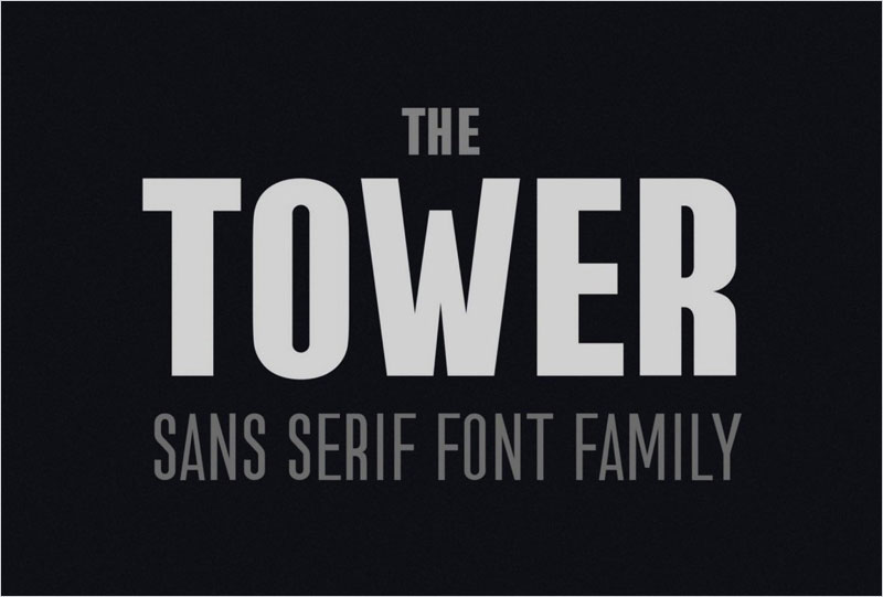 the-Tower.-Sans-Serif-font-family