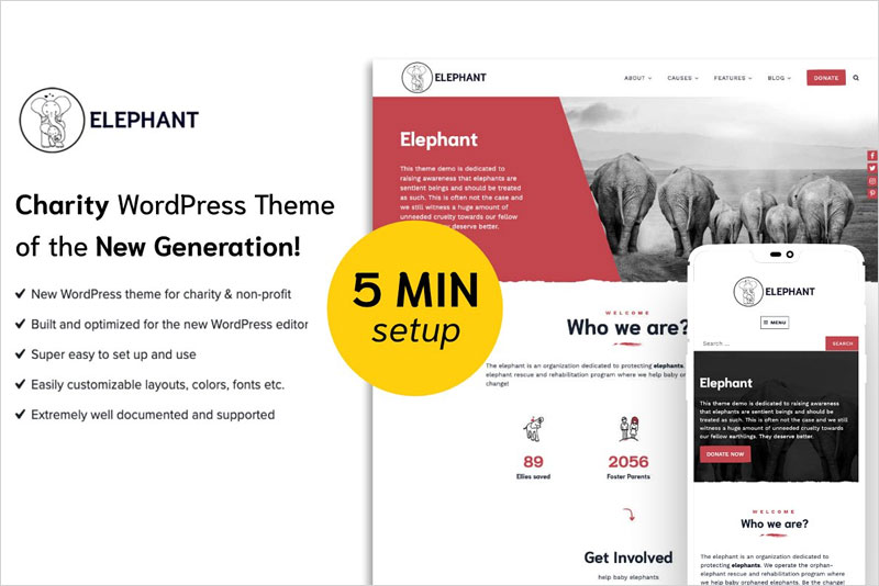 Elephant---Charity-WordPress-Theme