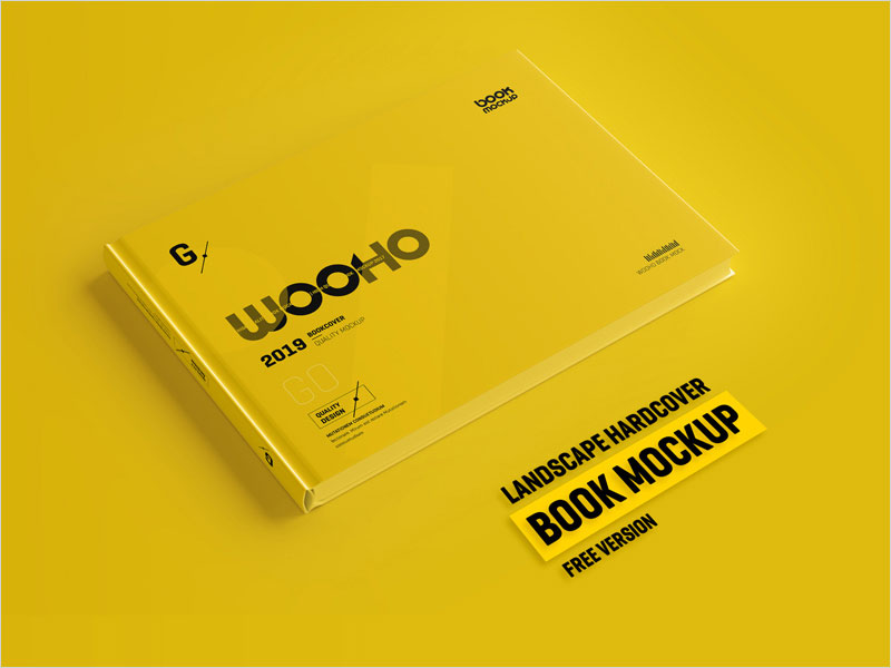 Free-Horizontal-Hardcover-Book-Mockup