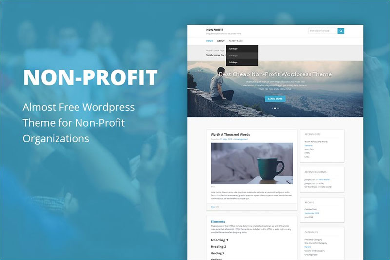 Non-Profit---Cheap-Wordpress-Theme