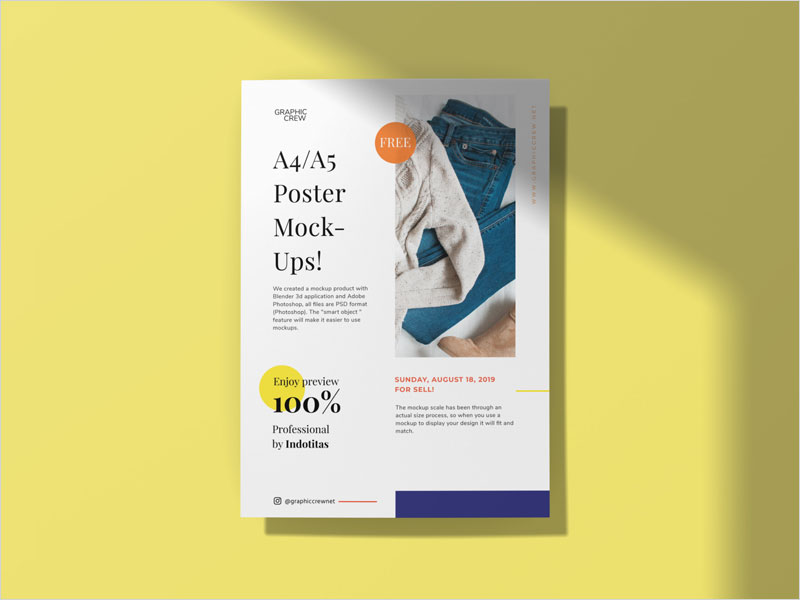 Free-A4-Flyer,-Poster-Mockup