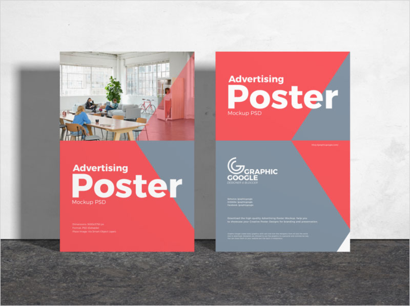 Free-Advertising-Poster-Mockup-PSD