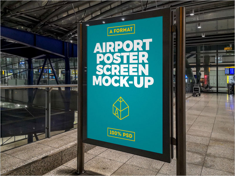 Free-Airport-Poster-Screen-Mock-Up