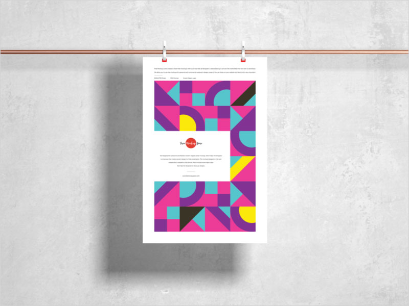 Free-Modern-Clipped-Poster-Mockup