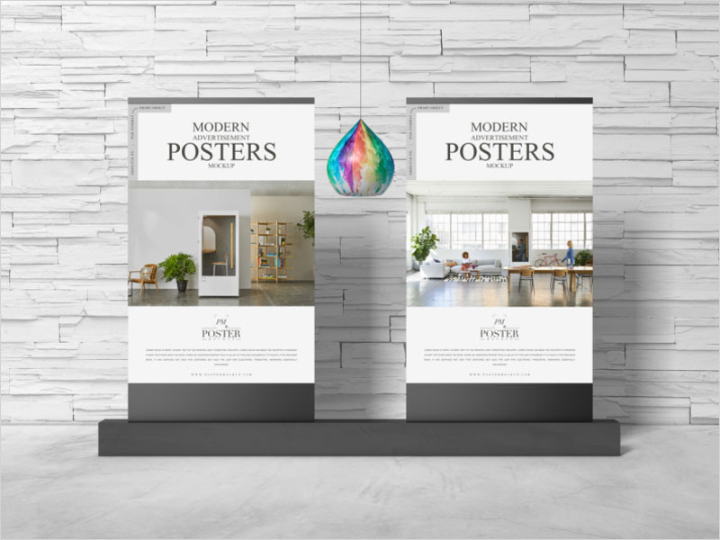 Modern-Advertisement-Posters-Mockup