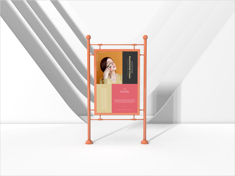 Modern-Sandwiched-Clasps-Poster-Mockup-Free