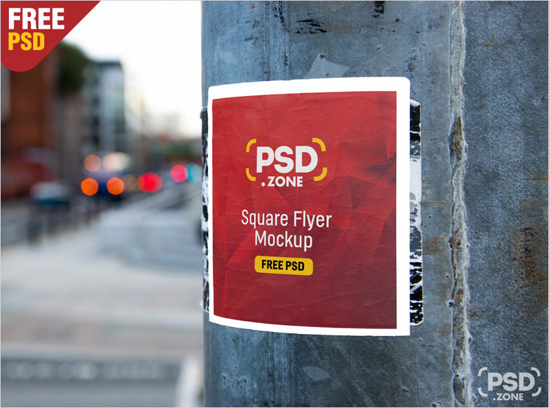 Square-Flyer-on-Wall-Mockup-PSD