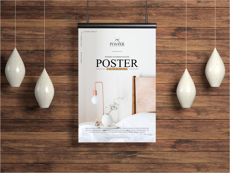 Wooden-Interior-Poster-Mockup-Free
