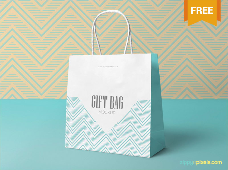 Free-Attractive-Gift-Bag-Mockup