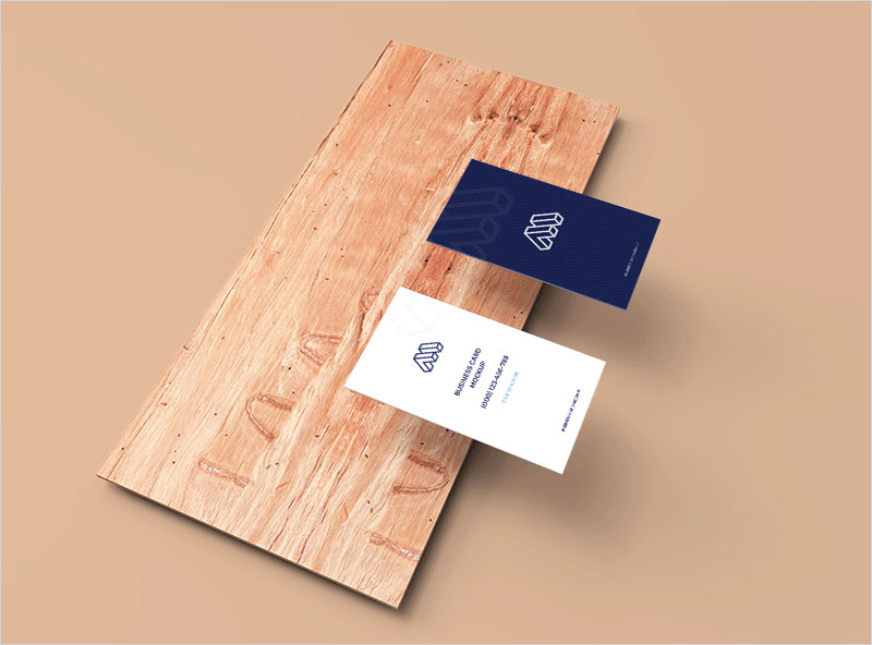 Business-Cards-Mockup-Above-Plank