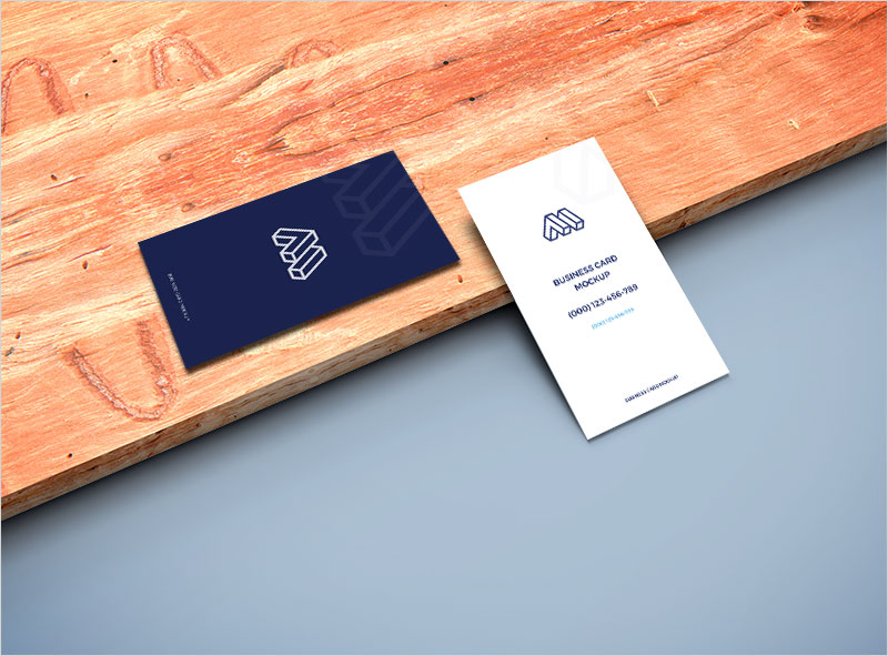 Business-Cards-on-Wooden-Plank-Mockup