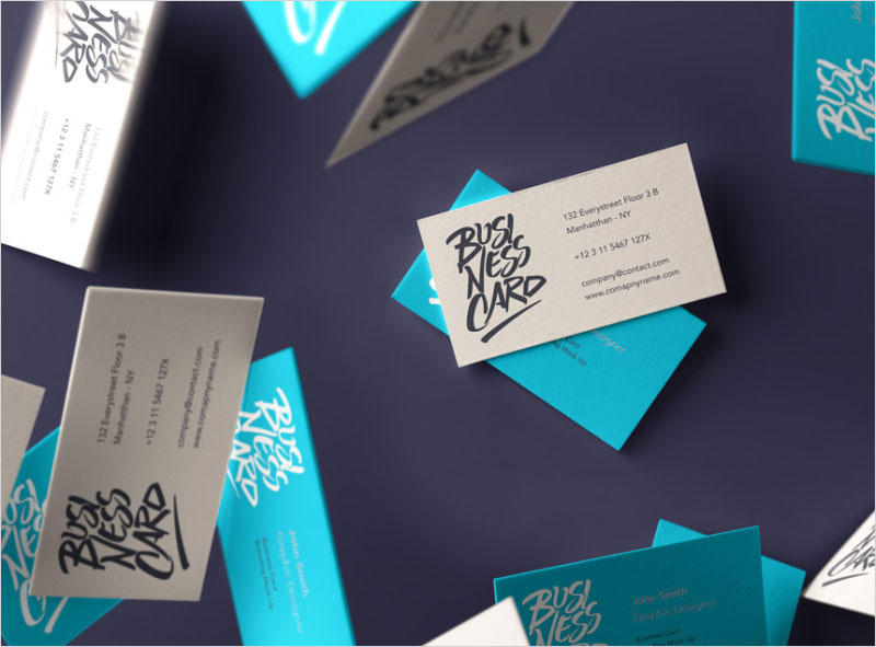 Free-Falling-Business-Card-Mockup