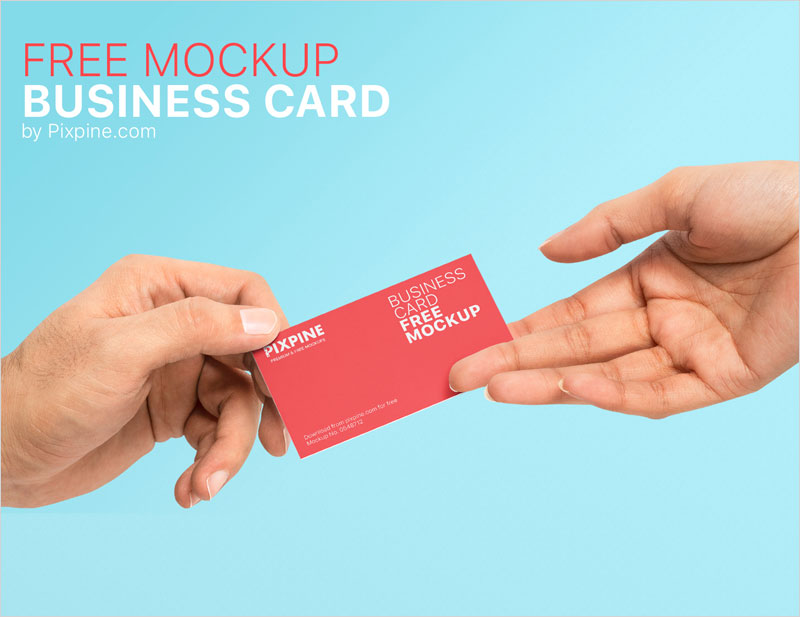 Holding-Business-Card-Mockup