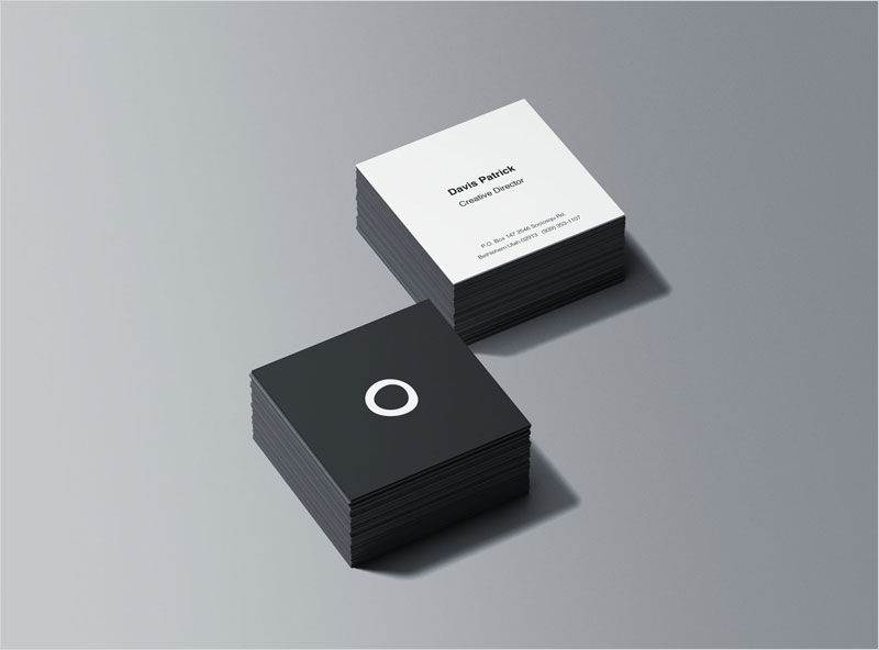 Square-Business-Card-Stacks-Mockup