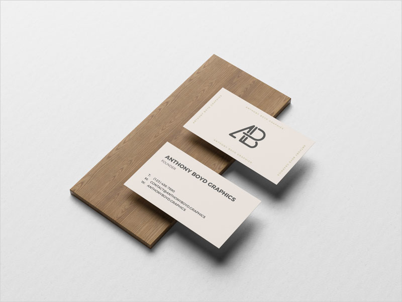 Free-Business-Card-On-Board-Mockup