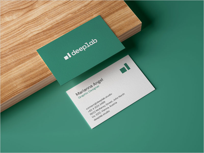 Realistic-Business-Card-Mockup-on-Wooden-Board