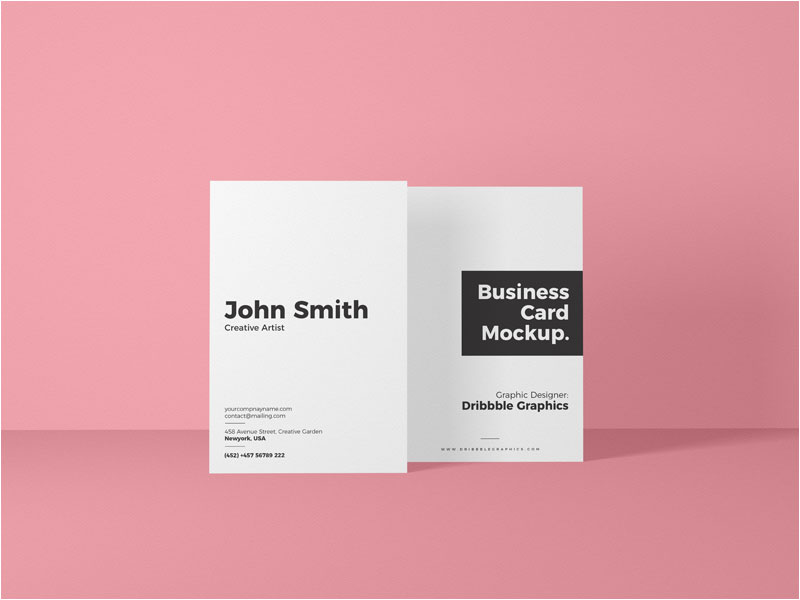 Free-Vertical-Front-View-Business-Card-Mockup
