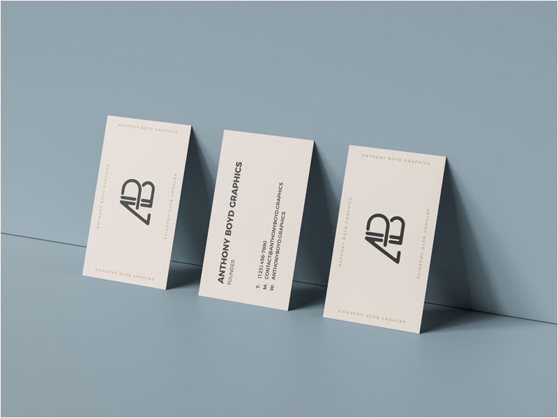 Triple-Business-Card-Mockup