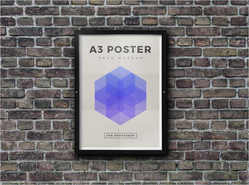 Free-A3-Outdoor-Framed-Poster-Mockup