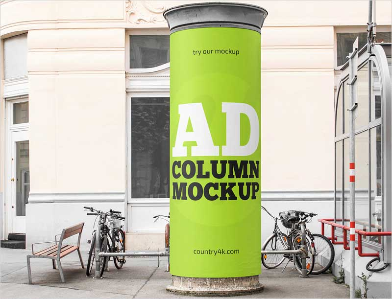 Free-Advertising-Column-MockUp-in-4k