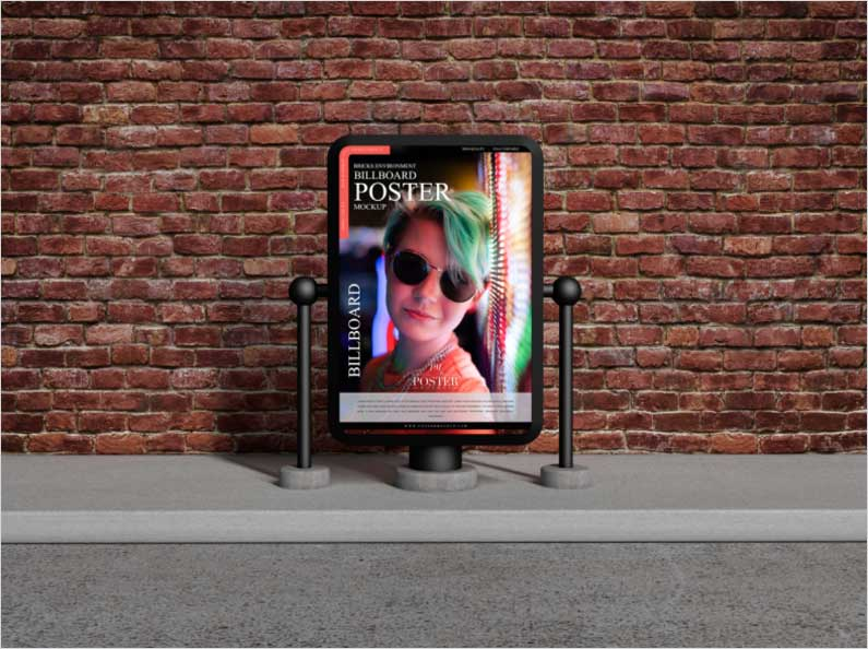 Free-Bricks-Environment-Billboard-Poster-Mockup