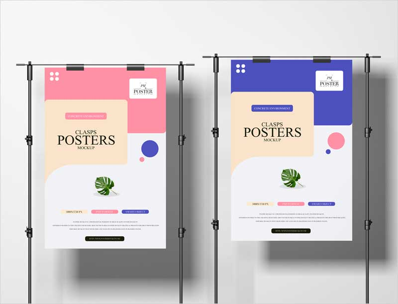 Free-Clasps-Posters-Mockup