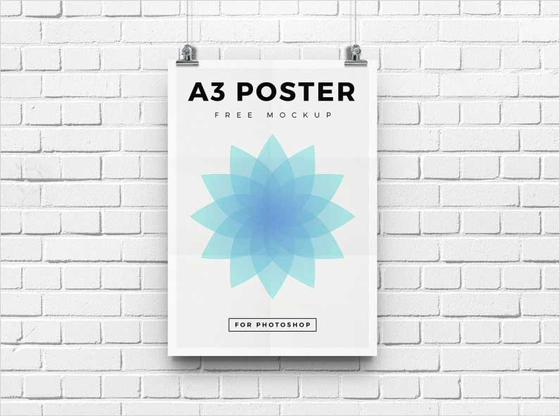 Free-High-Resolution-A3-Poster-Mockup