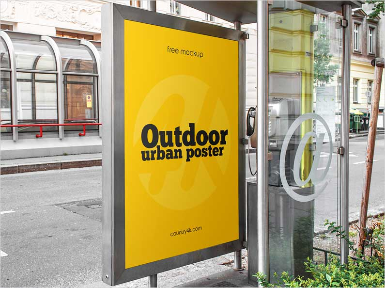Free-Outdoor-Poster-PSD-MockUp-in-4k