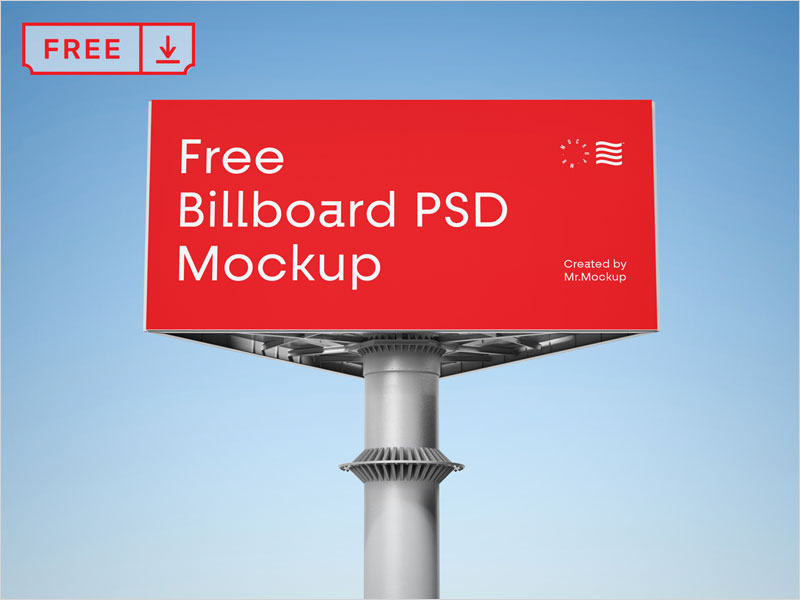 Free-Red-Billboard-Mockup