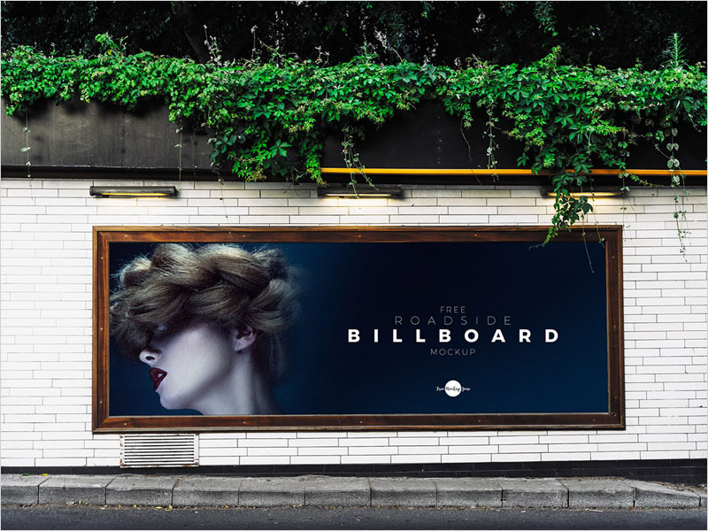Free-Roadside-Advertisement-Billboard-Mockup-Psd
