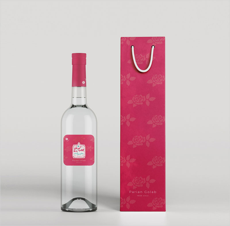 Pink-Rose-Bottle-Design