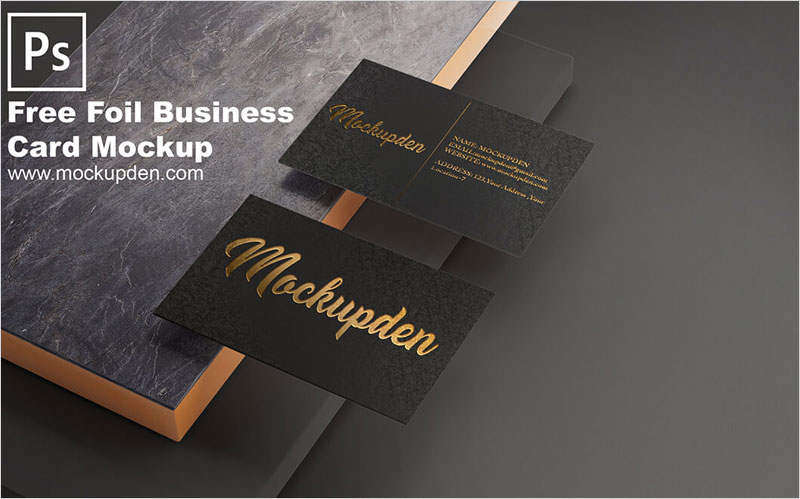 Foil-Business-Card-Mockup-Free-PSD