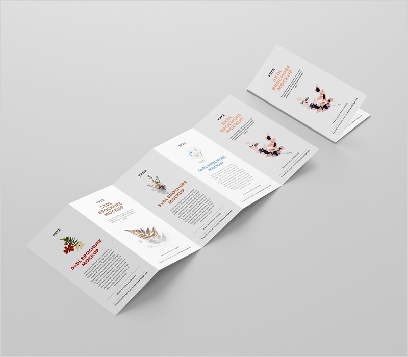 Fold-Accordion-Brochure-Mockup