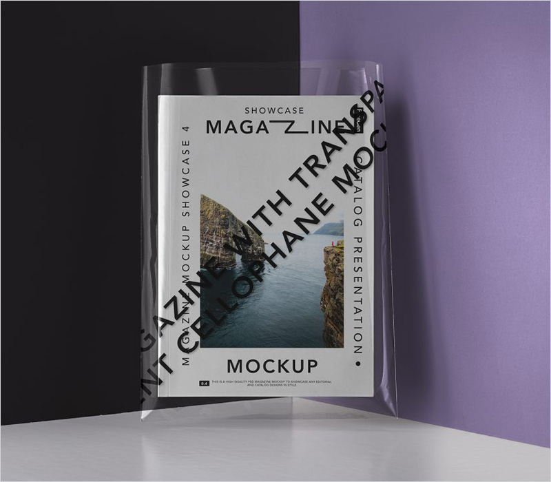 Magazine-with-a-Transparent-Cover-Mockup