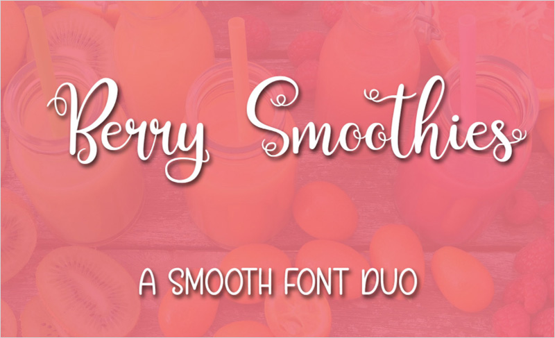 Berry-Smoothies-Font
