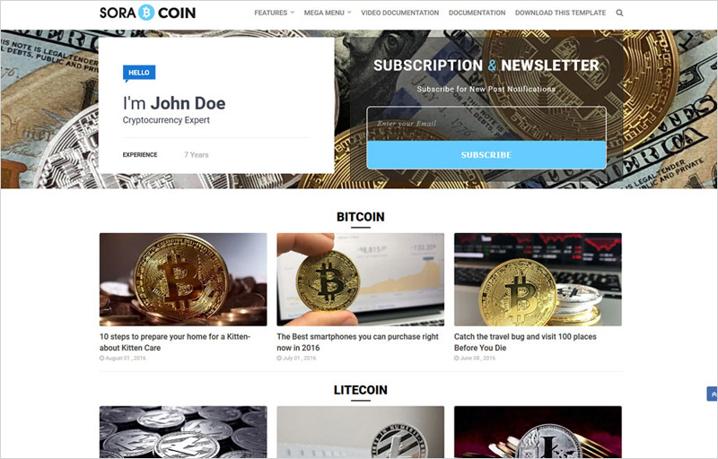 Bitcoin-Blogger-Template