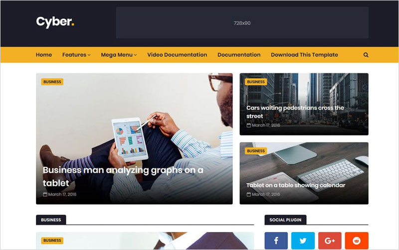 Cyber-Responsive-Blogger-Template