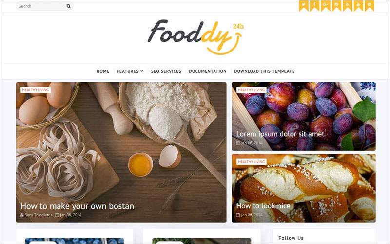 Fooddy-Blogger-Template