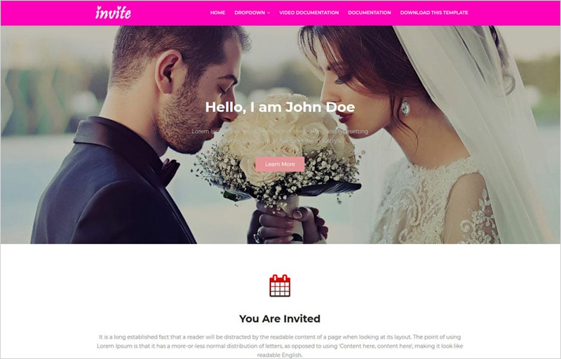 Invite-Blogger-Template
