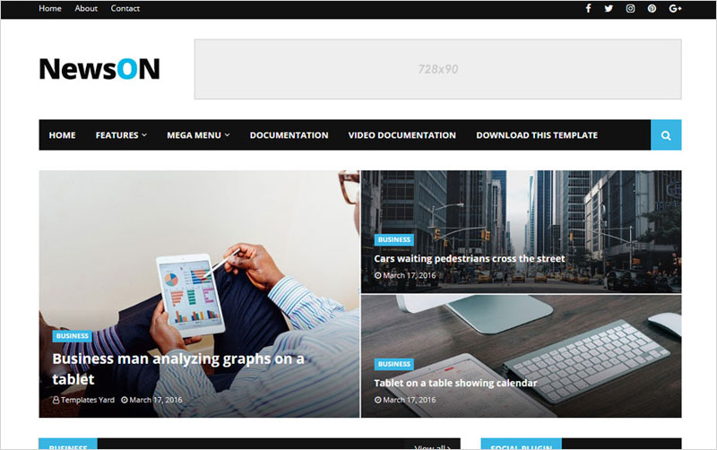 News-Responsive-Blogger-Template