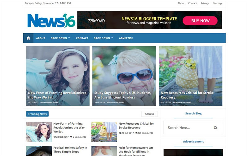 News16-Responsive-Blogger-Template