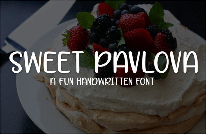 Sweet-Pavlova---Handwritten-Font